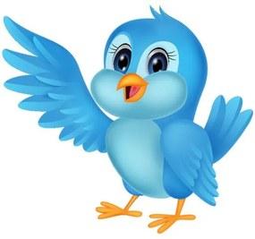 Nálepka na stenu pre deti Modrý vtáčik 10x10cm NK4397A_1HP