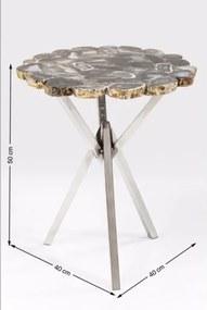KARE DESIGN Stolík Treasury Ø40 cm šedý