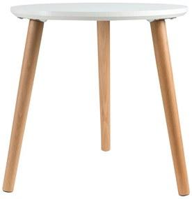 LIVARNOLIVING® Drevený stolík, Ø 40 cm (biela), biela (100309046)