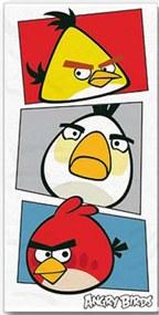 Halantex Osuška Angry Birds bielá froté 70/140 cm
