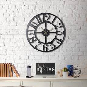 Nástenné kovové hodiny Clasic, 70 × 70 cm