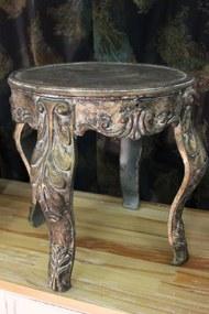 Kovový hnedý patinovaný stolík 41cm