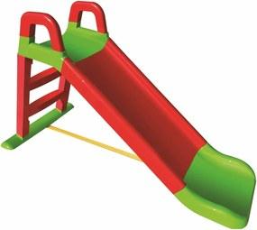 Doloni Detská šmýkačka červeno-zelená, 140 x 85 cm