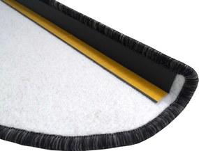 Vopi koberce Nášlapy na schody Apollo Soft šedé (antra) půlkruh - 24x65 půlkruh (rozměr včetně ohybu)
