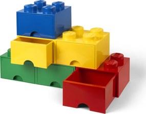 LEGO Úložný box 4 so zásuvkou - modrá