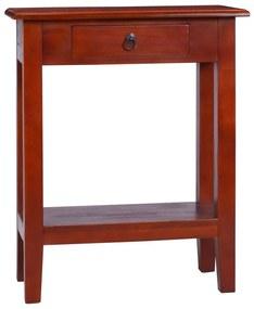 vidaXL Konzolový stolík klasický hnedý 60x30x75 cm mahagónový masív