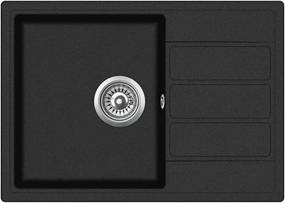 Granitový kuchynský drez - Aquastone LAGO 30 čierna metalická