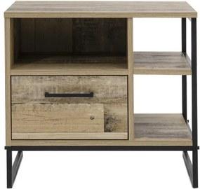 Sconto Nočný stolík RUFA dekor staré drevo