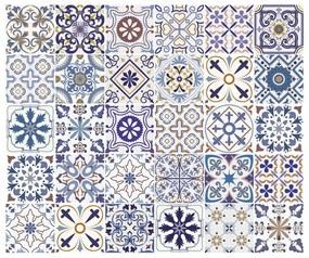 Súprava 30 nástenných samolepiek Ambiance Tiles Azulejos Riviera, 10 × 10 cm