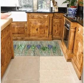 Vysokoodolný kuchynský koberec Webtappeti Lavender, 60 × 115 cm