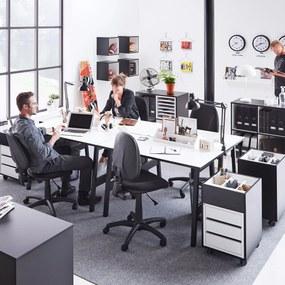 Kancelársky pracovný stôl Nomad, 1200x600 mm, biela / čierna