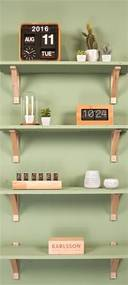 Karlsson Nástenné hodiny - Karlsson Mini Flip Bamboo, 28x7,5 cm