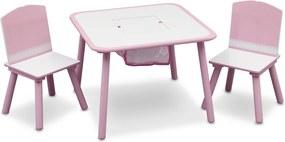 Detský stôl s stoličkami - ružový ružový TT89513GN