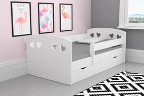 Detská posteľ Julie - biela 180x80 cm posteľ + úložný priestor