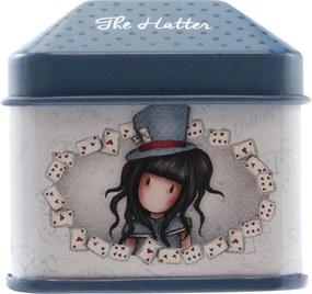 Santoro London - Plechová krabička so samolepkami - Gorjuss - The Hatter