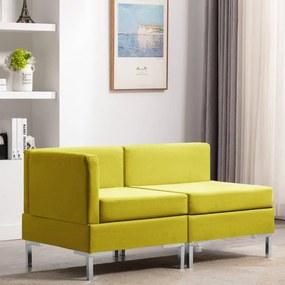 vidaXL 2-dielna sedacia súprava žltá látková
