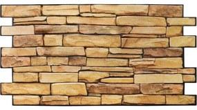Obkladové 3D PVC panely TP10006921, rozmer 980 x 498 mm, kameň prírodný, GRACE