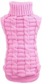 (veľkosť S: 30/20 cm) Pletený sveter pre psov PUPPY