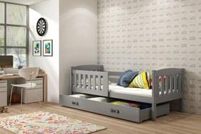 BMS Group Jednolôžková posteľ KUBO - so zásuvkou - GRAFIT