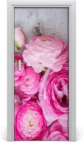 Fototapeta na dvere  ružové kvety