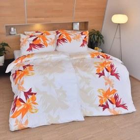 Stanex Luxusné obliečky Nela oranžová 140x200/70x90 cm