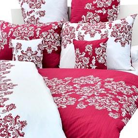 Stanex Luxusné obliečky 100% Bavlna Venzel vínový 140x200/70x90 cm