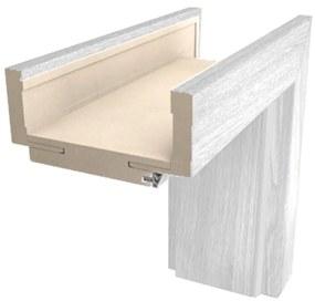 Obložková zárubňa Naturel 80 cm pre hrúbku steny 12-14 cm borovice biela pravá O3BB80P