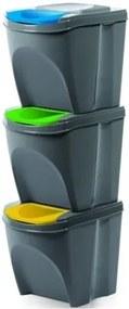 Kôš na triedený odpad Sortibox 25 l, 3 ks, sivá IKWB20S3405u