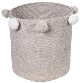 LORENA CANALS Pletený detský kôš Bubbly Grey, šedá