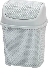 Odpadkový kôš 6 l sivá