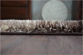 Luxusný kusový koberec Shaggy Ben hnedý, Velikosti 120x170cm