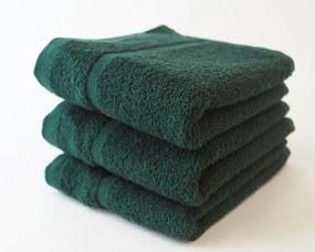 Dobrý Textil Malý uterák Economy 30x50 - Tmavě zelená   30 x 50 cm