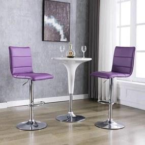 vidaXL Barové stoličky 2 ks, fialové, umelá koža