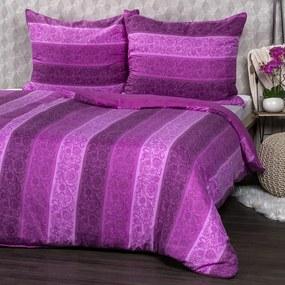 Jahu obliečky Flowers fialová, 140 x 200 cm, 70 x 90 cm