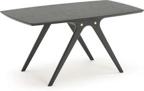 Konferenčný stolík SWING, 1100x600x520 mm, čierno morený dub