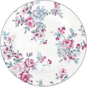 Isabelle Rose Porcelánový tanier s motívom ruží - 19 cm