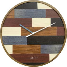 NeXtime Hodiny 3232 Patch Wood