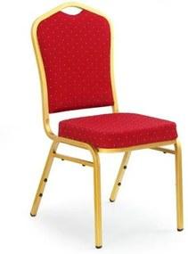Jedálenská stolička Rylee tmavo zelená / zlatá