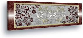 GLIX Obraz na plátne - Luxurious Flower Decoration in Frame II 45x145 cm