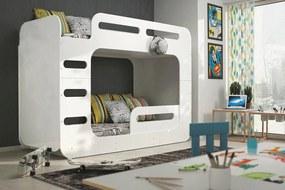 Poschodová posteľ MAX 2 - 200x80cm - BIELA
