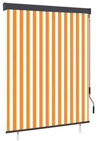 vidaXL Vonkajšia zatemňovacia roleta 140x250 cm biela a oranžová