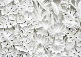 Vliesové fototapety, rozmer 368 cm x 254 cm, 3D kvety biele,  IMPOL TRADE 10052V8