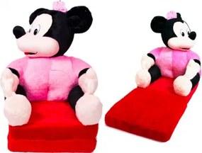 Detská rozkladacia pohovka - Minnie Mouse