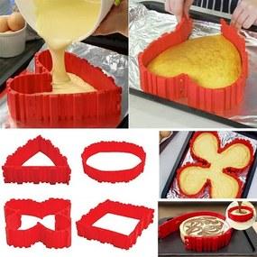 UD Magická tvarovacie silikónová forma na torty, červená