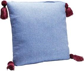 KARE DESIGN Sada 2 ks − Vankúš Louis Pop 50 × 50 cm modrý