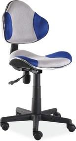 SIGNAL Q-G2 kancelárska stolička modrá / sivá