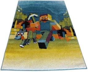 Detský koberec Minecraft modrý, Velikosti 240x330cm