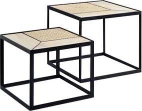 Odkladací stolík Leris (SADA 2 ks), čierna