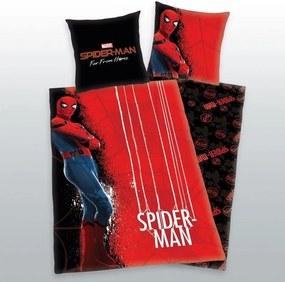 HERDING Obliečky Spiderman červený Bavlna, 140/200, 70/90 cm