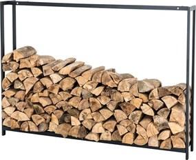 Stojan na drevo Skog, 125x145 cm, matná čierna